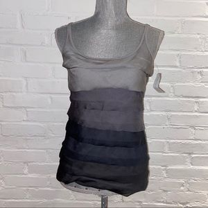 New York and Co women's size S tiered tank top